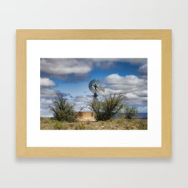 Karoo Windmill Framed Art Print