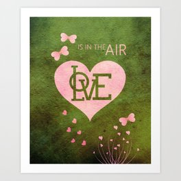 Butterfly Love In The Air Art Print