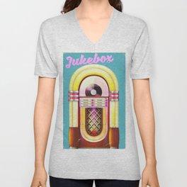 Vintage Jukebox Unisex V-Neck