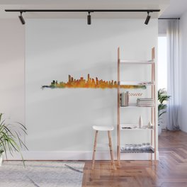 Vancouver Canada City Skyline Hq v01 Wall Mural