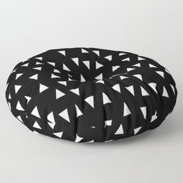 Black and white triangle desgn in minimal style Floor Pillow