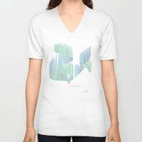 aurora V-neck T-shirts featuring aurora by Marta Olga Klara