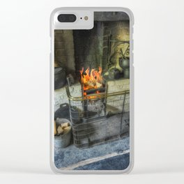 Olde Kitchen Fire Clear iPhone Case