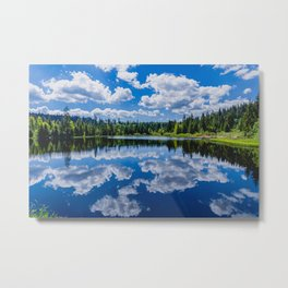 The lake Etang des Royes in the canton of Jura in Switzerland Metal Print