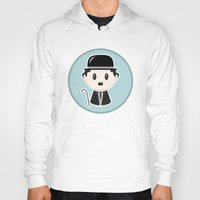 charlie chaplin Hoodies featuring Charlie Chaplin by Cloudsfactory