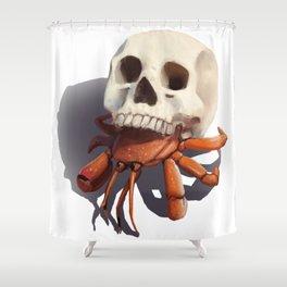Skull Hermit Crab Shower Curtain