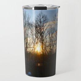 Snowy Sunset Travel Mug