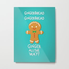 Gingerbread Metal Print