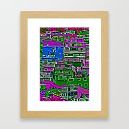 Color City Framed Art Print
