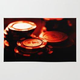 Casino Chips Stacks-Red Rug
