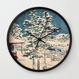 Utagawa Hiroshige - 48 Famous Views of Edo - Kanda Temple Wall Clock