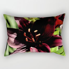 Scarlett Red Rectangular Pillow