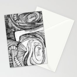 Onions (black and white) Stationery Cards