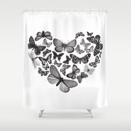 BUTTERFLY LOVE MONO Shower Curtain