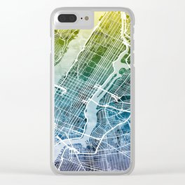 New York City Street Map Clear iPhone Case