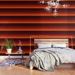 Orange Ombre Stripes Wallpaper