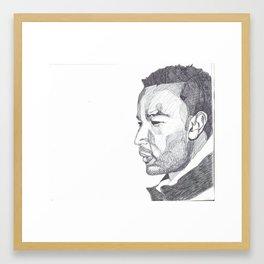 John Legend Pen Portrait Framed Art Print