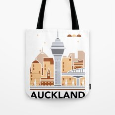 City Illustrations (Auckland, New Zealand) Tote Bag
