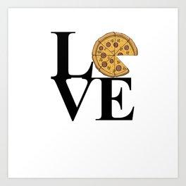 LOVE Pizza Art Print