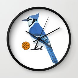 Basketball Blue Jay Wall Clock