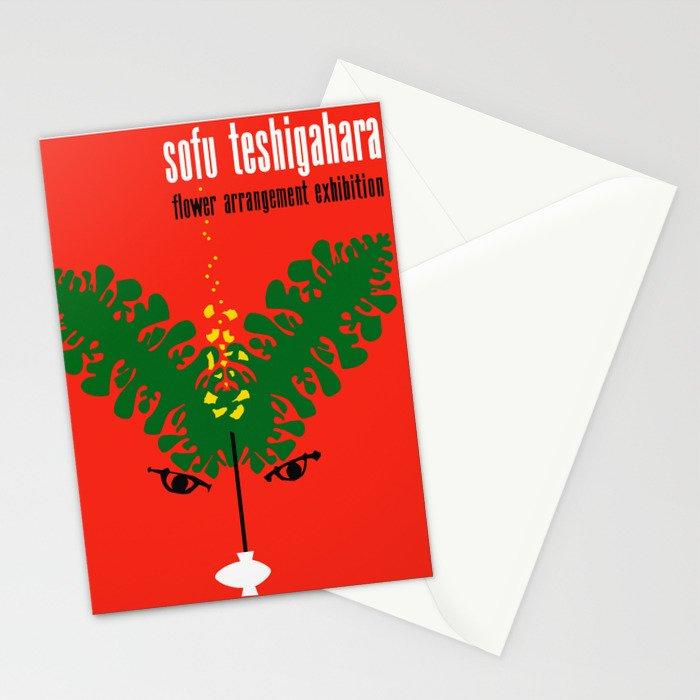 Exhibition Poster Sofu Teshigahara Flower Arrangement Kamekura Stationery Cards