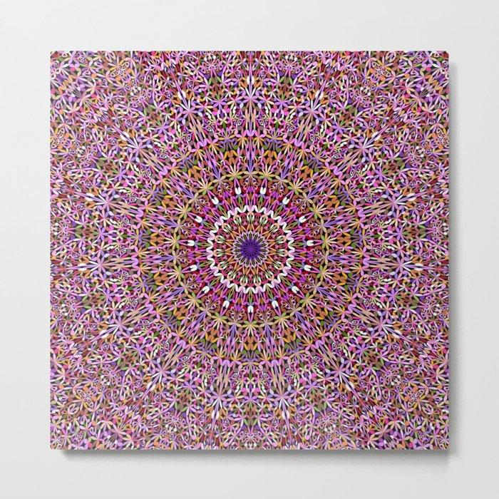 Colorful Spiritual Garden Mandala Metal Print