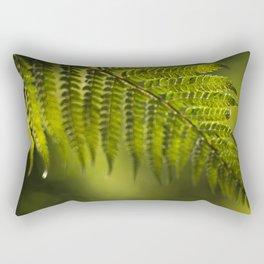 Green fern Rectangular Pillow