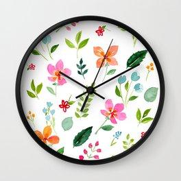 All Things Bright - White Wall Clock