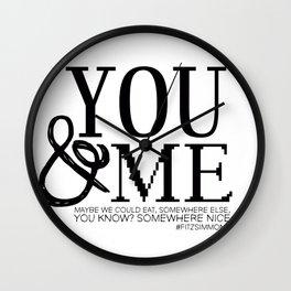 You & Me FitzSimmons Wall Clock