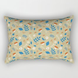 Peaceful Plant Pattern Rectangular Pillow