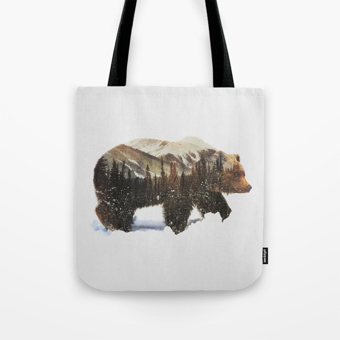 Arctic Grizzly Bear Tote Bag