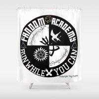 fandom Shower Curtains featuring Ultimate Fandom Academy by Thg Fashion