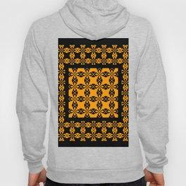 African Ethnic Pattern Black and Orange Hoody