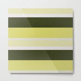 Cactus Garden Stripes 3H Metal Print