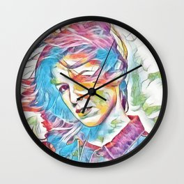 Anna Kendrick (Creative Illustration Art) Wall Clock