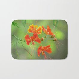 Miniature poinciana tree photo print Bath Mat