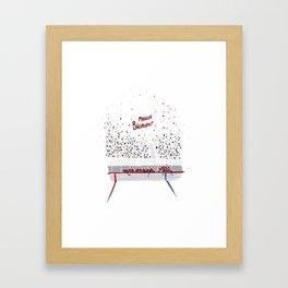 Modern Bromance - Bench Framed Art Print