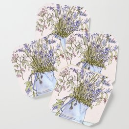 Wildflowers Botanical Flowers in Pitcher Coaster
