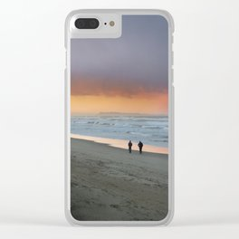 Spanish Sunset Clear iPhone Case