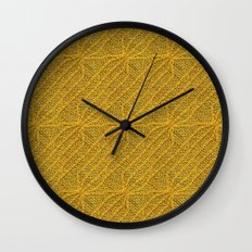 Yellow Lines Knit Wall Clock