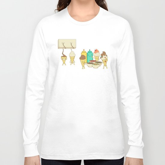 Ice Cream Hair Fun Long Sleeve T-shirt