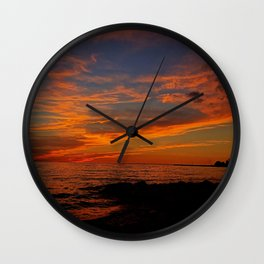 First Sunset of Summer Wall Clock