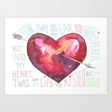 Arrow Through My Heart Art Print