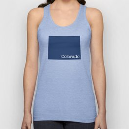 Colorado State in 2020 Navy blue Unisex Tank Top