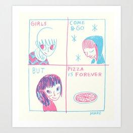 Pizza > Girls Art Print