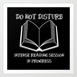 Do Not Disturb (White on Black) Art Print