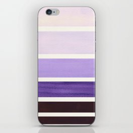 Purple Minimalist Mid Century Modern Color Fields Ombre Watercolor Staggered Squares iPhone Skin