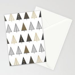 MODERN CHRISTMAS TREES Stationery Cards