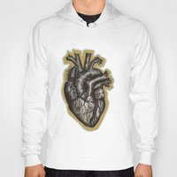 anatomical heart Hoodies featuring Anatomical Heart by Micaela Payne