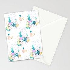 Fruiti tutti. Fruit, illustration, pattern, print, pineapple,  Stationery Cards